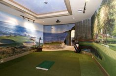 Golf room. Pretty cool