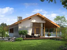 If you're looking for an inexpensive, still comfortable home, here are three low-cost homes, that look and feel just great. Duplex House Plans, Bungalow House Plans, Style At Home, Tree Bedroom, Types Of Houses, Mid Century Modern Furniture, Design Case, Home Fashion, Home Projects