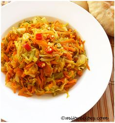 Easy Indian Cabbage recipe (red chillis and cumin)
