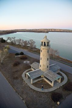 Lighthouse at Lake Minitare, Nebraska.