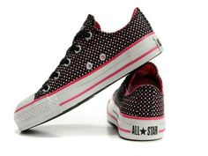 77525e23d79 Black All Star White Pink Stars Low Top Canvas Shoes Converse All Star  White