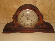 1910s William L Gilbert Clock Co Winsted Wind Up Wood Mantle Clock 5 Day N R | eBay