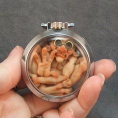 Polymer Clay Fairies for Sale | Look at this cute little guy stuck inside a watch! What an amazing ...