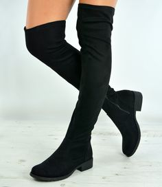 e788c578eae Cucu Fashion New Womens Over The Knee Suede Boots Ladies Low Block Heel Zip  Shoes Size. Thigh High ...