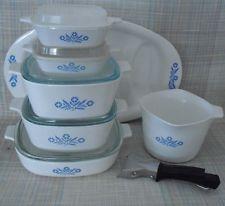 13 Pc Corning Ware Cornflower Blue Caseroles/Lids/Meat Platter/Saucemaker