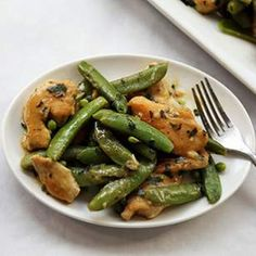 Lemony Sugar Snap & Chicken Stir-Fry