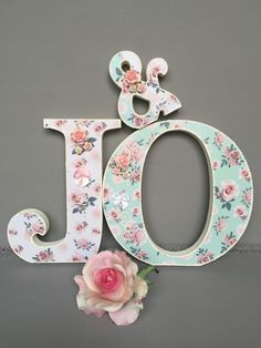 Wedding Initials Free Standing Wooden Letters Shabby Chic Home Decor Customised | eBay