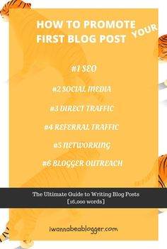 Spend 80% of your time promoting your first blog post…only 20% writing it!