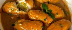 Roladki drobiowe z kremowym nadzieniem porowym - Blog z apetytem Baked Potato, Food And Drink, Potatoes, Blog, Stuffed Peppers, Chicken, Meat, Baking, Vegetables