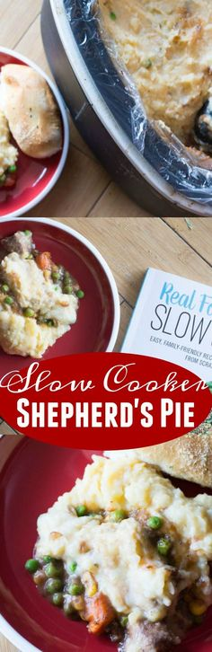 Slow cooker shepherd pie - a delicious and hearty slow cooker meal that is the ultimate slow cooker meal.