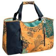 Haiku Day Tote Bag (For Women) in Amber Mum Toss Print - Closeouts