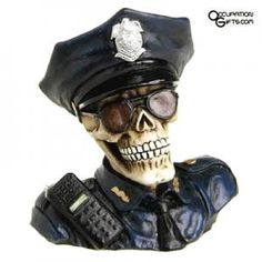 Find awesome policeman gifts for any upcoming occasion. From Christmas to birthdays and more, we've got unique gifts for you to choose from. Gifts For Cops, Police Gifts, Music Gifts, Police Officer, Unique Gifts, Superhero, Law Enforcement, Skulls, Skeleton