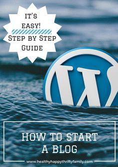 How To Start a Blog on Self Hosted Worpress wordpress.org #wordpress #blogging