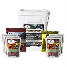 Prepper Pack Emergency Meal Kit Bucket-- Great Taste  - Extended Shelf Life - Up to 25 years Add water and ready to eat in 12 to 15 minutes- Smart Packaging - Ready-made meals are packaged in mylar pouches, and then encased in durable plastic containers thus preserving food and eliminating waste - Lightweight and Condensed - Grab and Go Food Kits - Packaged in a stackable design, added protection and ease of grab and go in case of emergency- Gourmet emergency meals at the best price!