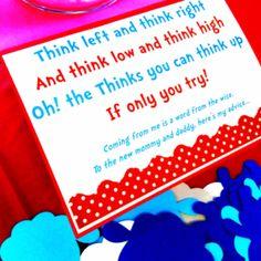 Dr. Seuss Baby Shower advice jar