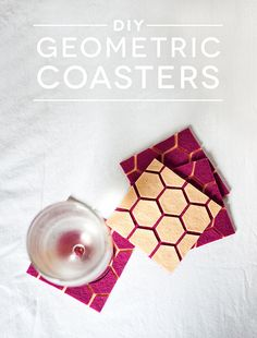 Geometric Felt Coaster DIY- should do this with cork