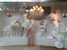 Ralph Lauren windows Spring Summer Singapore  Monochromatic white background is the perfect palate,  awesome!