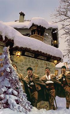 Картички за Коледа, картичка Коледари - Vcards