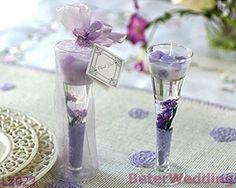 庭のガラスゲルの蝋燭- Lavender_Wedding Favor_Wedding Gift_Weddingの記念品LZ023