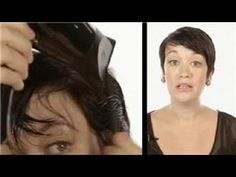 ▶ Short Hair Styling Tips : How to Blow Dry Short Hair - YouTube