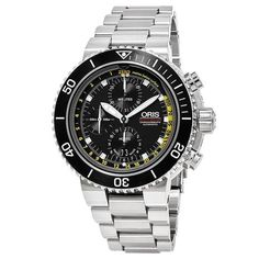 Shop for Oris Men's 'Aquis' Black Dial Stainless Steel Depth Gauge Chronograph Swiss Automatic Watch. Get free delivery On EVERYTHING* Overstock - Your Online Watches Store! Online Watch Shopping, Online Watch Store, Louis Armstrong, Oris Aquis, Omega Seamaster Diver, Swiss Automatic Watches, Leather Watch Bands, Watch Sale, Watch Brands