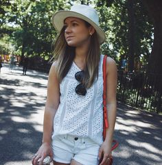 The first day of summer is here! I'm staying cool in all white new post up now on Fizz and Fade. #wiw #whatiwore #ontheblog #fizzandfadeblog #outfit #summer #white #nyc #eastvillage #fblogger