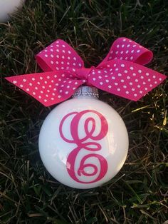 Monogrammed Personalized christmas ornament tree holiday ornaments on Etsy, $10.00