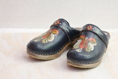 1970s painted leather clogs http://www.etsy.com/listing/113306151/70s-swedish-painted-leather-clogs-sz-7