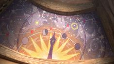 rapunzel's astronomy ceiling mural