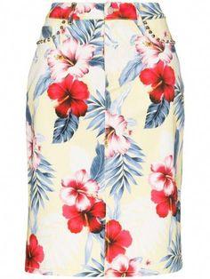 Satin Pencil Skirt, Pencil Skirt Casual, Pencil Skirt Outfits, Denim Pencil Skirt, Printed Pencil Skirt, Denim Skirt, Pencil Skirts, Floral Swimsuit, Floral Prints