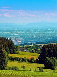 Urban and rural all together. Eidenberg, Austria / Österreich