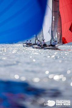 Cool on-water shot - Sperry Charleston Race Week 2015, Charleston. Photo © Sander van der Borch