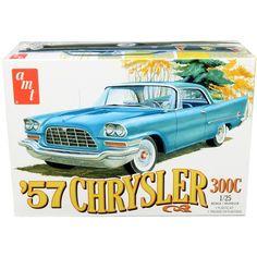 Brand new scale plastic model kit of 1957 Chrysler (Skill plastic model kit by AMT.Brand new box. Chrysler 300c, Chrysler Cars, Model Cars Kits, Kit Cars, Car Kits, Plastic Model Kits, Plastic Models, Modern Tools, Diecast Model Cars