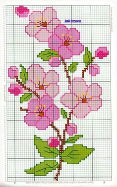 Anaide Ponto Cruz: Beautiful cross stitch graphics for bath towels, leave your c… – Embroidery Cross Stitch Rose, Cross Stitch Borders, Cross Stitch Flowers, Cross Stitch Designs, Cross Stitching, Cross Stitch Embroidery, Hand Embroidery, Cross Stitch Patterns, Beading Patterns