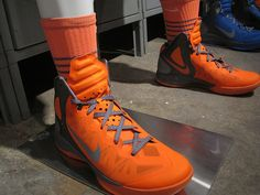Syracuse's Nike Platinum kicks form the game vs USF. These are my next pair or shoes