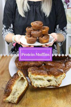 Protein Muffins Rezept mit nur 4 Zutaten. Ein sehr leichtes und schnell zubereitetes Rezept für Muffins. Die Muffins mache ich mir gerne ab und zu für die Arbeit um an den langen Tagen etwas protein-reiches zum Snacken dabei zu haben. Muffins Rezept findet ihr auf meinem Blog für ca. 10 Stück. Christinas-Fitlife.de