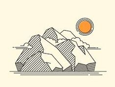Image result for mountain illustration