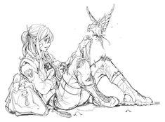 ArtStation - Sketch for inmaginefx, Sai Foo Creepy Drawings, Cool Drawings, Manga Drawing, Drawing Sketches, Drawing Ideas, Character Sketches, Character Art, Art Poses, Art Reference Poses