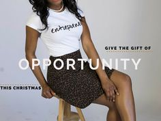 Give the gift of opportunity this Christmas to an entrepreneur in your life. Classic White, Opportunity, Entrepreneur, Sequin Skirt, Gift, Skirts, Christmas, Cotton, How To Wear