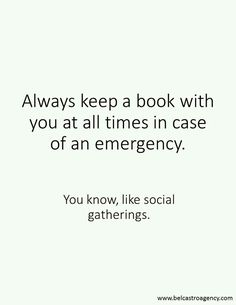 You know, like social gatherings.