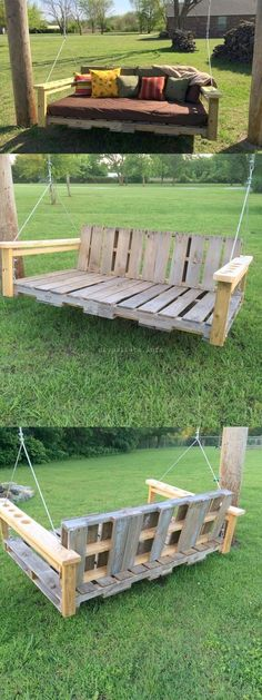 Shipping Pallets Furniture Ideas For Decor Houses - Pallet ideas Wooden Projects, Diy Pallet Projects, Pallet Ideas, Woodworking Projects, Pallet Painting, Pallet Art, Diy Pallet Furniture, Furniture Ideas, Herb Garden In Kitchen