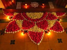 Awesome 44 Diwali DIY Decoration Ideas (You Must Try) The post 44 Diwali DIY Decoration Ideas (You Must Try)… appeared first on Feste Home Decor . 44 Diwali DIY Decoration Ideas (You Must Try) Rangoli Designs Flower, Colorful Rangoli Designs, Rangoli Ideas, Rangoli Designs Diwali, Rangoli Designs Images, Flower Rangoli, Beautiful Rangoli Designs, Rangoli With Flowers, Flower Designs