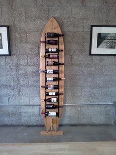 Surfboard Wine Rack. $795.00, via Etsy.