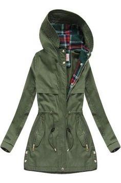 Dámska prechodná bunda parka khaki 1 W153 Parka, Military Jacket, Raincoat, Outfit, Jackets, Fashion, Rain Jacket, Outfits, Down Jackets