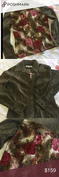 Balmain brown suede lace jacket Sz small Brown suede jacket with lace back Balmain Jackets & Coats
