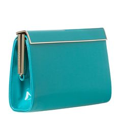 Jimmy Choo 'Cayla' Turquiose Patent Leather Clutch   Overstock.com
