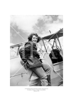 A 'magnificent lady in her flying machine' takes part in an air display at Weston, Leixlip, County Kildare. June 1957 See more photos like this at www. Fine Art Photo, Photo Art, Rosemary Kennedy, History Photos, Photo Archive, Bradley Mountain, More Photos, Ireland, Fine Art Prints