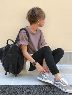 Normcore Fashion, Look Fashion, Fashion Pants, Daily Fashion, Fashion Outfits, Womens Fashion, Japanese Minimalist Fashion, Japanese Fashion, Outfits For Teens