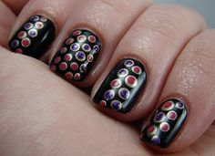 Pink and purple dots
