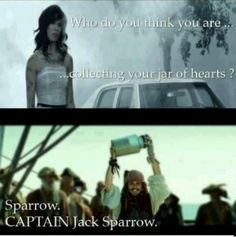 I love Jack Sparrow! Oh sorry, Captain Jack Sparrow! Captain Jack Sparrow, Friday Pictures, Funny Pictures, Funny Pics, Funny Memes, Funny Captions, Memes Humor, Johnny Depp, John Wick